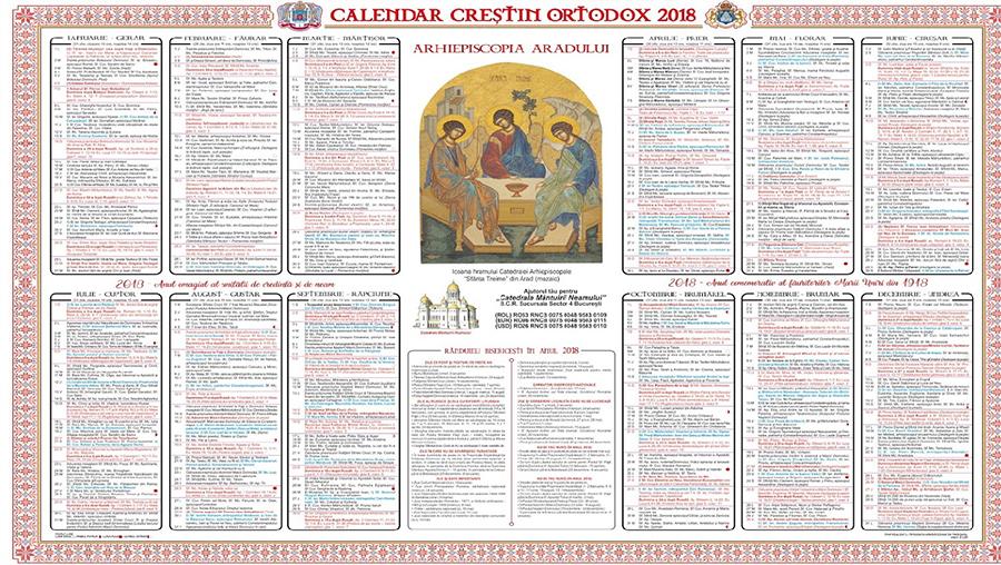 Calendarul crestin ortodox 2018. In ce data vom sarbatori ...