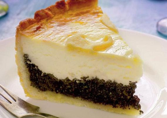 Prăjitură cu mac și brânză